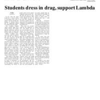 Students Dress in Drag, Support Lambda.pdf